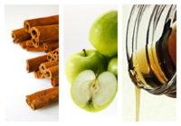Skořicové palačinky s jablky a javorovým sirupem