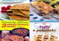 Náhled knihy a kuchařky o palačinkách, vaflích a lívancích